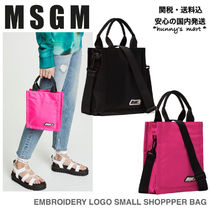 【MSGM】関送込 EMBROIDERY LOGO SMALL トート バッグ