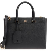 Tory Burch  Sml Robinson Double-Zip Leather Tote
