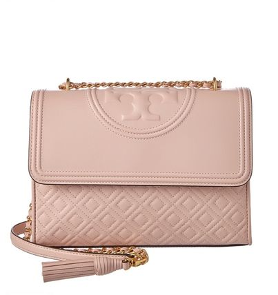 新色 Tory Burch Fleming Distressed Convertible Shoulder Bag