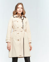Kate spade Patent Trim Belted Trench Coat 黒orベージュ