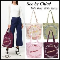 *See by Chloe*キャンバス ロゴ トートバッグ 関税/送料込