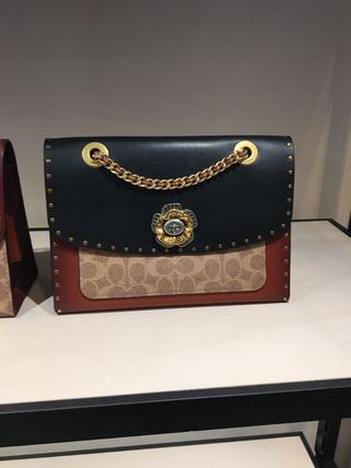 coach Parker With Rivets And Snakeskin 29416