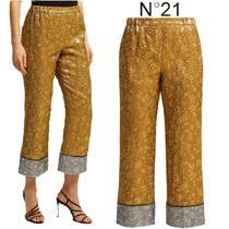 【19SS】★No21★Cropped lame-cloque trousers