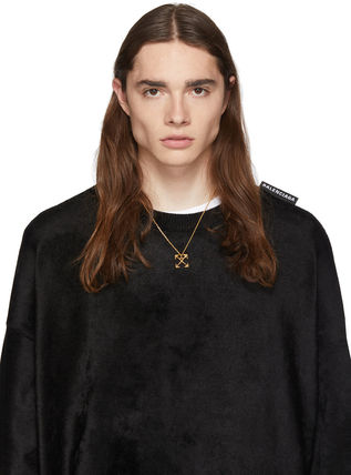 Off-White ネックレス・チョーカー 送料込 OFF-WHITE スモール アローネックレス 2色展開☆男女兼用(3)
