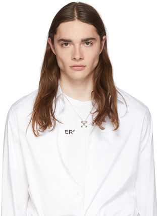 Off-White ネックレス・チョーカー 送料込 OFF-WHITE スモール アローネックレス 2色展開☆男女兼用(7)