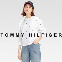 TOMMY JEANS ロゴプリントスウェット 国内買付 ギフトにも