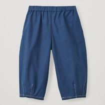 """COS(コス) キッズ用ボトムス """"COS KIDS"""" CONTRAST-STITCH COTTON TROUSERS BLUE"""