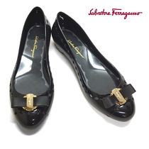 S.Ferragamo JELLYシューズ 0688557NERO US6-23.5cm (新品)