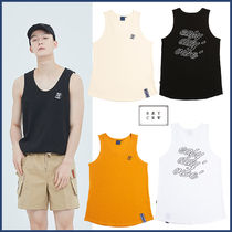 ROMANTIC CROWN★Unisex Color E.D.V Out Line Sleeveless_全4色