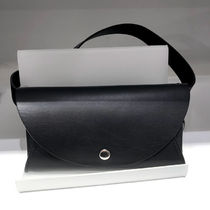 """COS""DETACHABLE LEATHER BELT BAG BLACK"