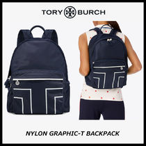 Tory Burch GRAPHIC-T BACKPACK ナイロン バックパック 関税込
