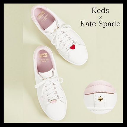 kate spade new york スニーカー (11594)Kate Spade X Keds☆コラボAce Lips/Hearts Sneakers