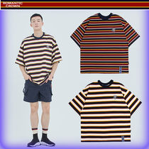 【ROMANTIC CROWN】ユニセックス E.D.V Striped T Shirt/追跡付