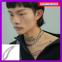 [OPEN THE DOOR] silver chain choker necklace - large /追跡付