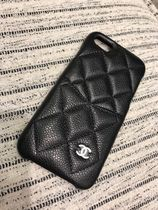 Chanel19SS☆キャビアiPhone 7・8 Cover☆Silver