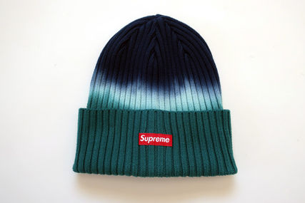 Supreme ニットキャップ・ビーニー 国内発送! 18Supreme Overdyed Ribbed Beanieビーニー Teal
