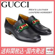完売必至★送料関税込★GUCCI★Men's leather loafers horsebit