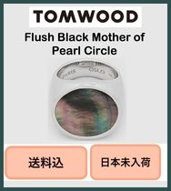 ■VIPSALE■ Tom Wood Flush Circle Ring Black Mother of Pearl