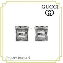 【GUCCI】正規店購入品☆Silver Cufflinks with Square G