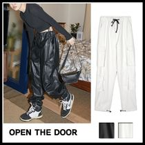OPEN THE DOOR★leather cargo pants レザーカーゴパンツ 2色