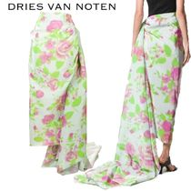 【19SS】★Dries Van Noten★printed maxi skirt with train