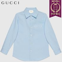 【正規品保証】GUCCI★19春夏★KID´S EMBROIDERED POPLIN SHIRT