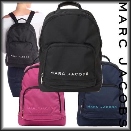 SALE! 全3色 MARC JACOBS ロゴ ナイロン バックバック 男女兼用