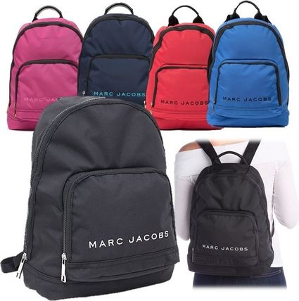 MARC JACOBS バックパック・リュック SALE! 全3色 MARC JACOBS ロゴ ナイロン バックバック 男女兼用(2)