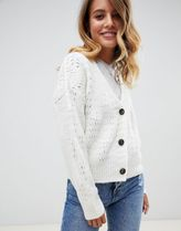 ASOS DESIGN chunky cardigan with pointelle stitch