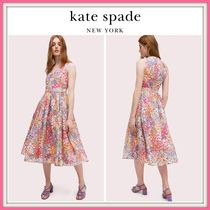 期間限定セール!! ☆kate spade☆ floral dots burnout dress