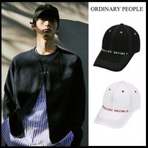 ORDINARY PEOPLE(オーディナリーピープル) キャップ ☆Ordinary People☆ 帽子 stitch point black ball cap 2色