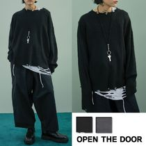 OPEN THE DOOR★男女兼用 grunge damaged knit (2 color)