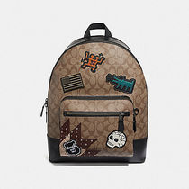 国内発 コーチ F50484 WEST BACK PACK SIG KEITH HARING パッチ
