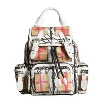【Burberry】Scribble Checked Small Backpack & Crossbody
