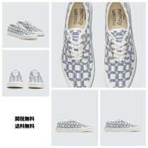 [MAISON KITSUNE] All-Over Rectangle Laced Canvas Sneaker