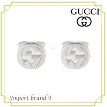 【GUCCI】正規店購入品☆Silver Cufflinks with Interlaced G