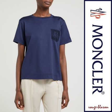 MONCLER Tシャツ・カットソー 【国内発送】MONCLER レースポケット Tシャツ