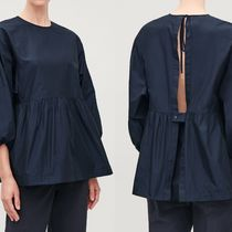 """COS(コス) ブラウス・シャツ COS"""" OPEN-BACK GATHERED TECHNICAL TOP NAVY"""