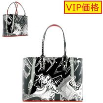 VIP価格!CHRISTIAN LOUBOUTIN Cabata small black leather tote