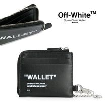 【OFF-WHITE】Quote Chain Wallet レザーウォレット(関税送料込)