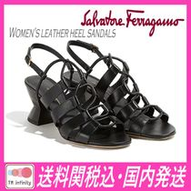 ★送料関税込★SALVATORE FERRAGAMO★ leather heel sandals