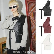 OPEN THE DOOR★男女兼用★ layered half vest (3 color)