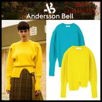 ANDERSSON BELL(アンダースンベル) ニット・セーター ★ANDERSSON BELL★RONA PUFF SLEEVE RIBBED CASHMERE SWEATER★