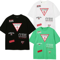 Guess(ゲス) Tシャツ・カットソー 日本未入荷★Guess★Loose Fit 総プリント 半袖 Tシャツ 3色