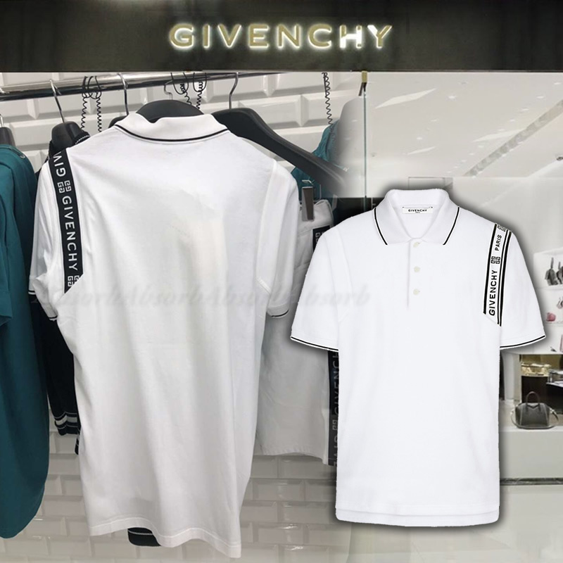 【19SS NEW】GIVENCHY_men / 半袖ロゴ入りポロシャツ/2色 (GIVENCHY/ポロシャツ) 42887569