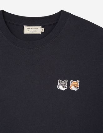 MAISON KITSUNE Tシャツ・カットソー 即配★MAISON KITSUNE 18AW TEE-SHIRT DOUBLE FOX HEAD PATCH 黒(3)