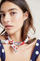 【Anthropologie】新作!!Fanciful Florets Silkスカーフ・Red