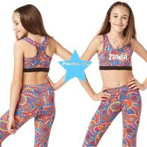 キッズH31.4【ZUMBA】ZW Juniors - Zumba Peace Scoop Bra