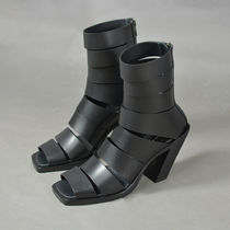 ANN DEMEULEMEESTER 1901-2950-378-099 LEATHER SANDALS BLACK