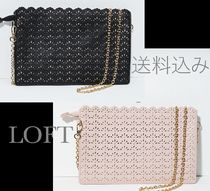 LOFT ★PERFORATED SCALLOPED CLUTCH ミニバック★